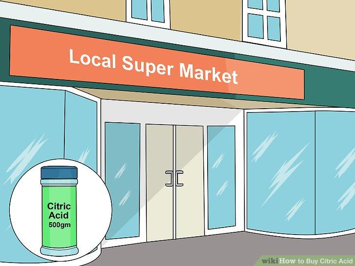 Yerel süpermarkette sitrik asit arayın.