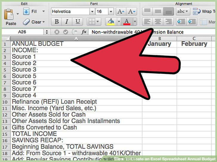 How to Create an Excel Spreadsheet Annual Budget: 15 Steps