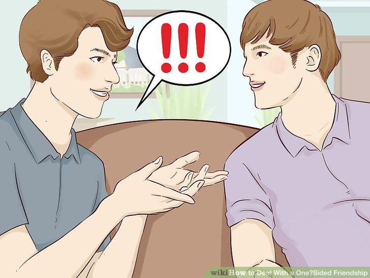 Bringen Sie Ihre Bedenken in Bezug auf die Freundschaft mit Ihrem Freund zum Ausdruck.