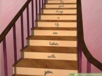 3 Ways to Decorate a Staircase - wikiHow