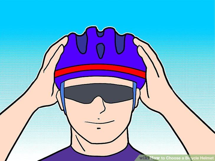 Wählen Sie einen passenden Helm aus.