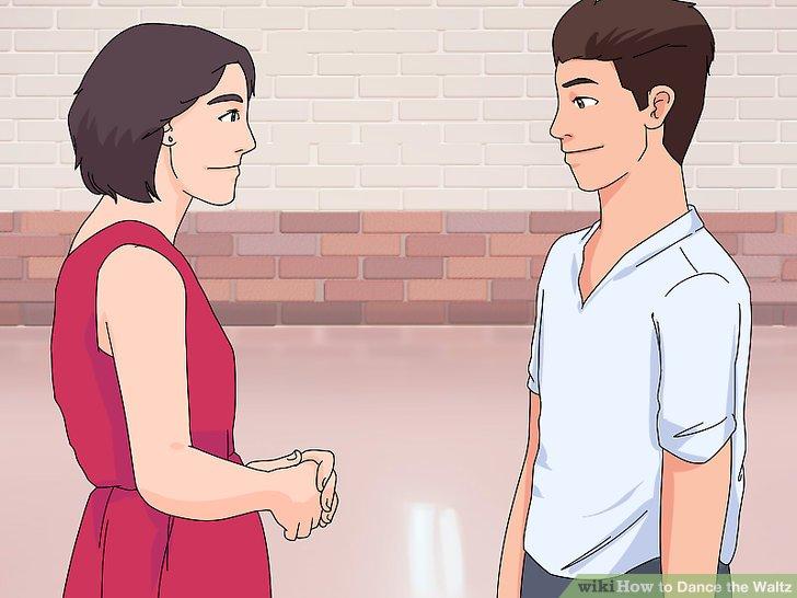 Stehen Sie Ihrem Partner gegenüber, Schulterabstand von ihnen entfernt.