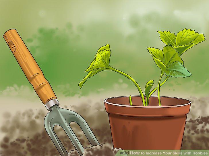 Machen Sie Gartenarbeit.
