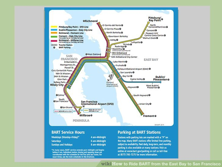 How To Ride Bart From The East Bay To San Francisco 8 Steps