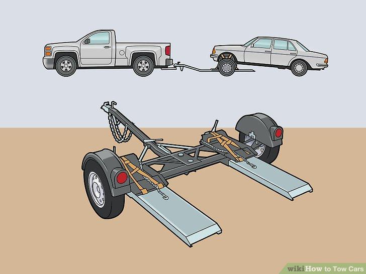 Befestigen Sie den Abschleppwagen an der Anhängerkupplung des Abschleppfahrzeugs.