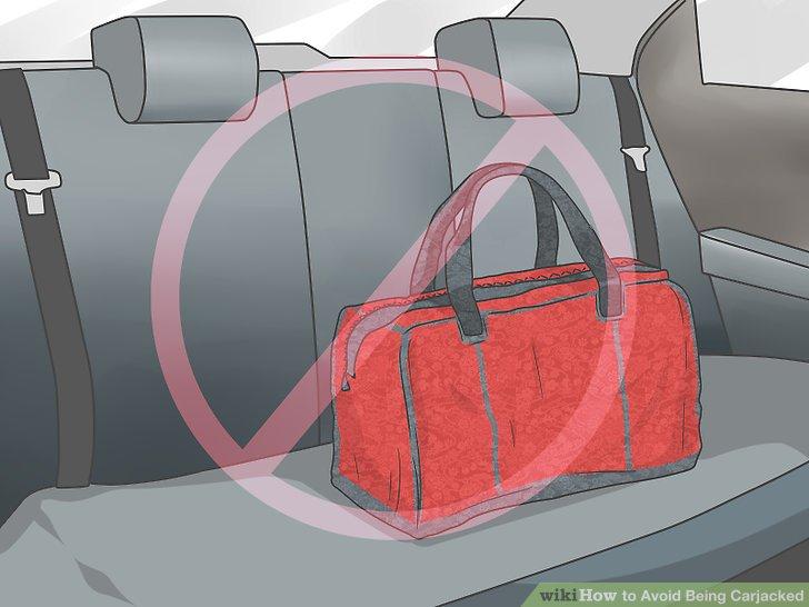 Lassen Sie keine Wertsachen in Ihrem Auto.