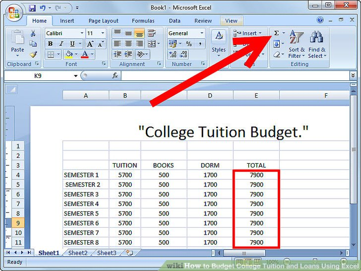 How to Budget College Tuition and Loans Using Excel: 10 Steps