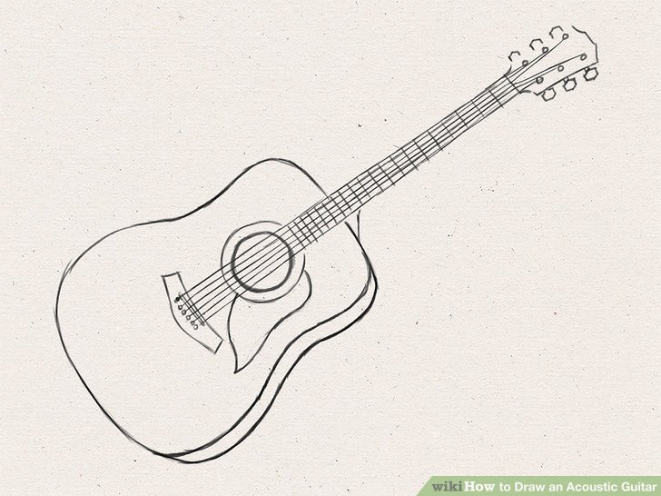 How to Draw an Acoustic Guitar: 15 Steps (with Pictures