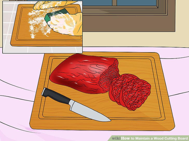 Clean the board after cutting raw meat.