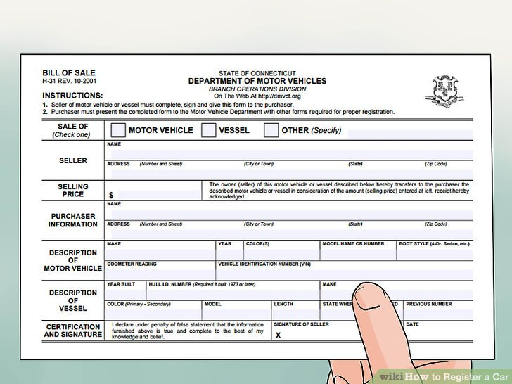 Ct Dmv Bill Of Sale >> Connecticut Motor Vehicle Registration - impremedia.net