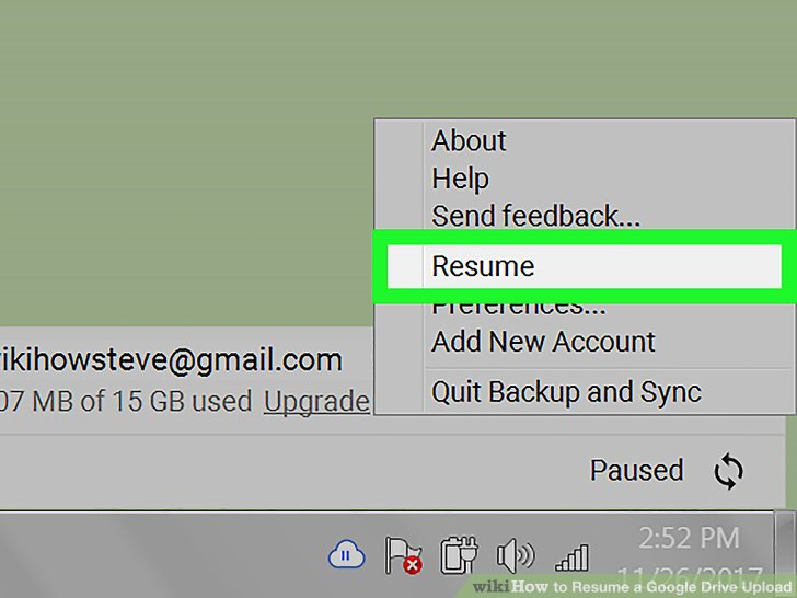 How to Resume a Google Drive Upload 5 Steps with Pictures