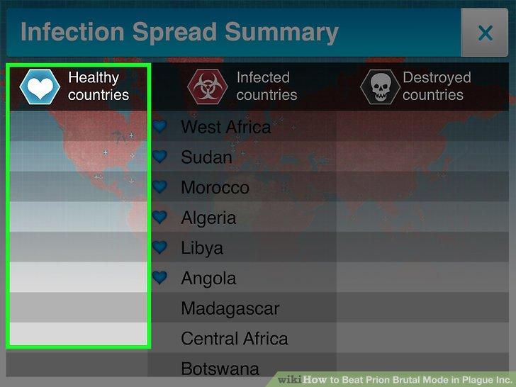 Warten Sie, bis alle Länder infiziert sind.