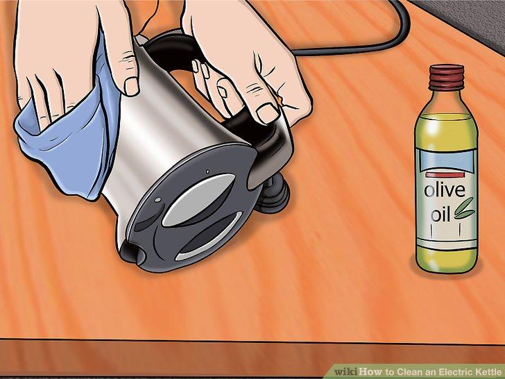 Mit Olivenöl polieren.