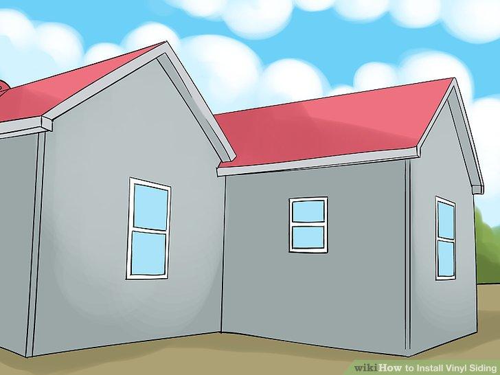 Bereiten Sie die Außenseite Ihres Hauses für die Installation vor.