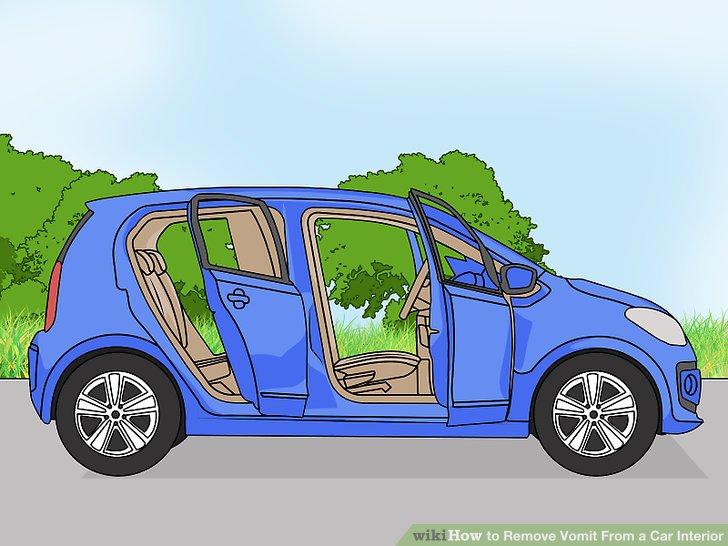 Öffnen Sie die Autotüren und Fenster.