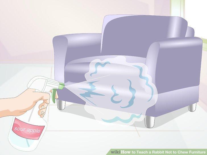 Besprühen Sie Ihre Möbel mit Geschmacksschutzmitteln.