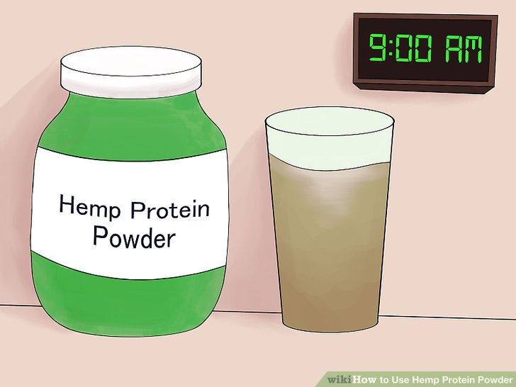 Use hemp protein powder for a high protein snack.