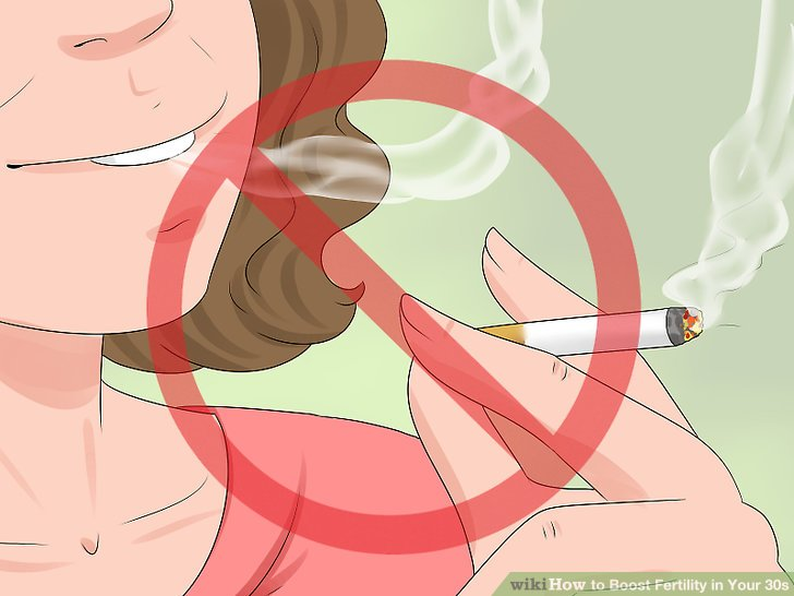 Versuchen Sie nicht zu rauchen oder in der Nähe von Rauchern zu sein.