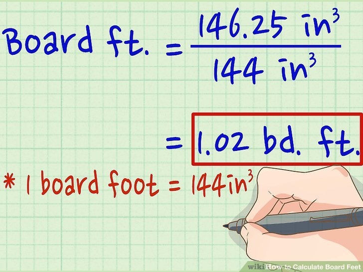 How Do You Calculate Board Feet In Lumber