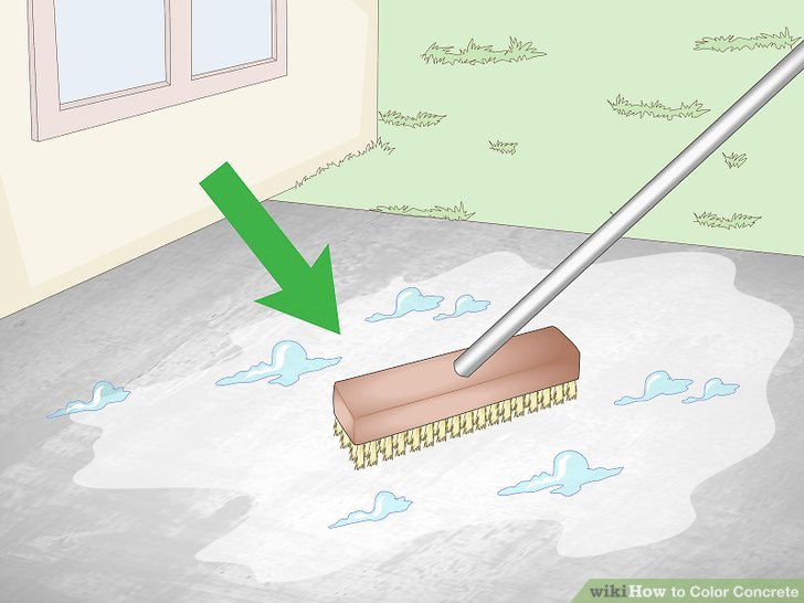 Clean the surface of the concrete thoroughly.