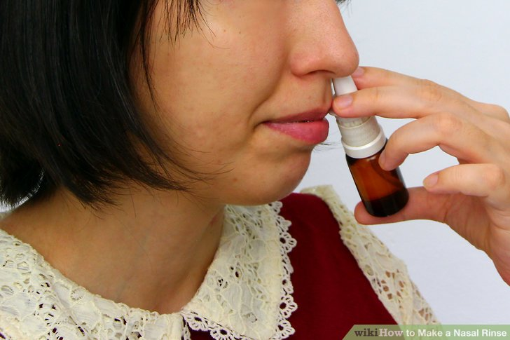 Flush your sinuses as usual.