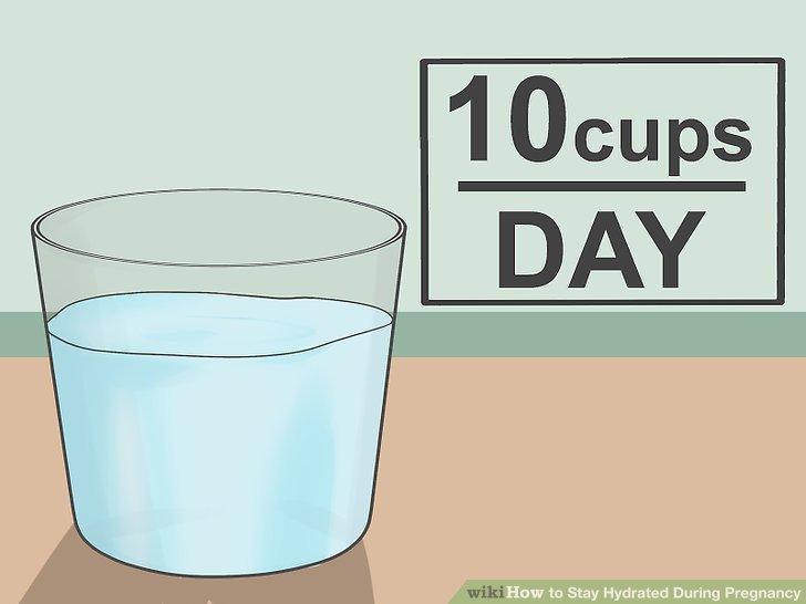 Verstehen Sie, dass Sie einen größeren Bedarf an Wasser haben.