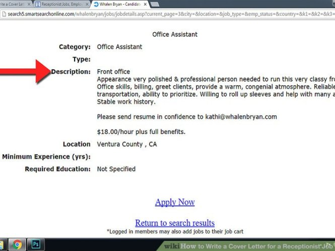 Image Led Write A Cover Letter For Receptionist Job 1