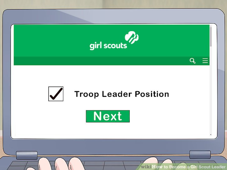 """Skim the open volunteer roles and select a """"Troop Leader"""" position."""