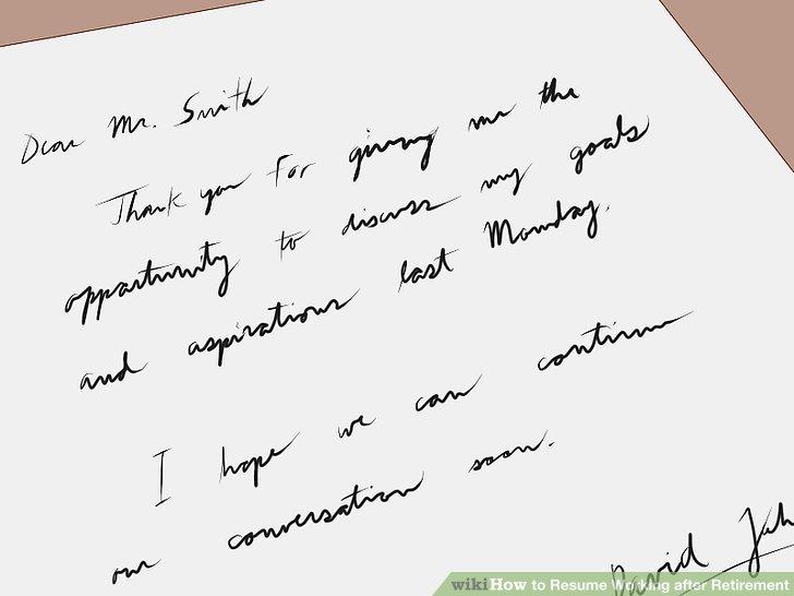Send a follow-up message after the interview.