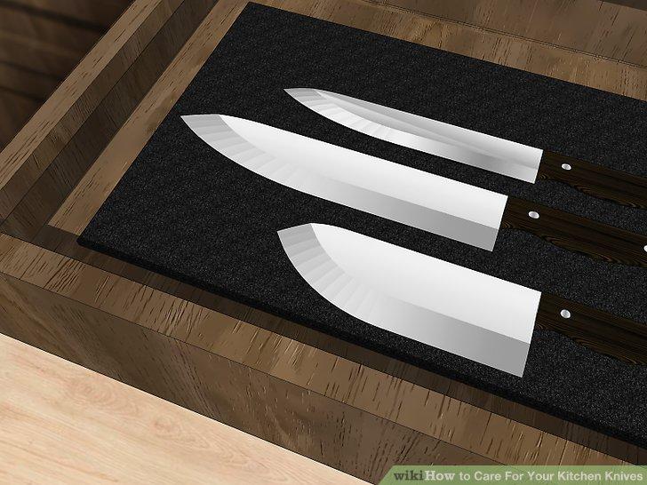 Finden Sie einen guten Platz zum Aufbewahren Ihrer Messer.