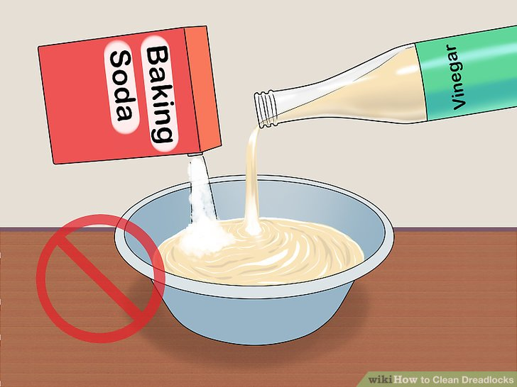 DO NOT mix together the baking soda and vinegar.