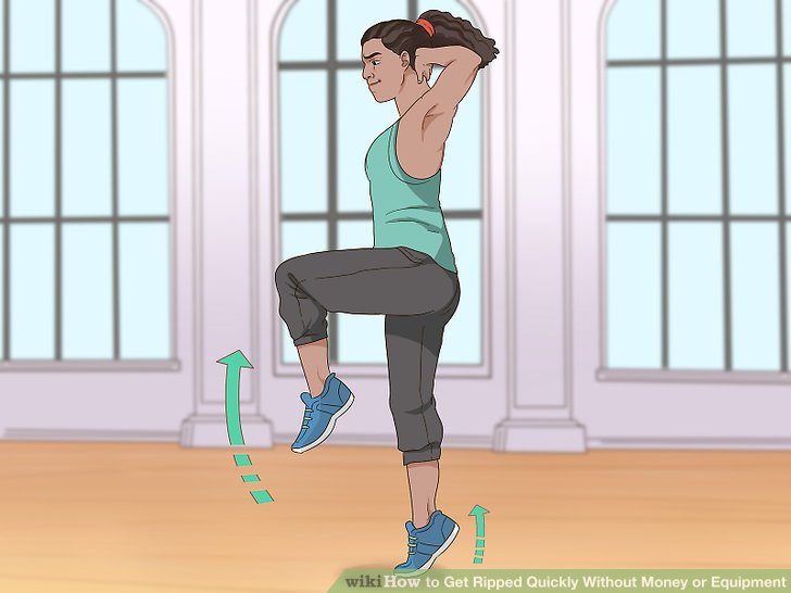 Formen Sie Ihre Beine und Gesäß mit Kniebeugen.