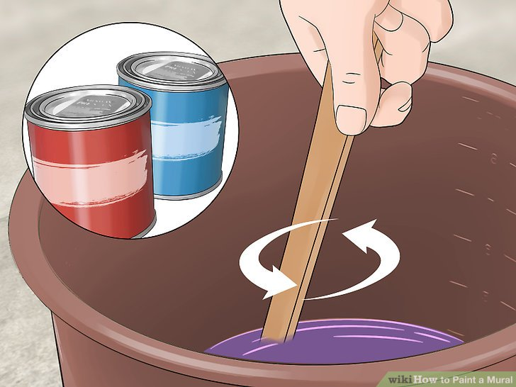 Mix your paint colors as needed while you paint.