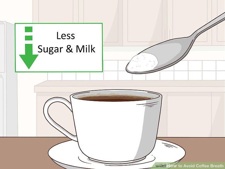 Geben Sie weniger Zucker und Milch in Ihren Kaffee.