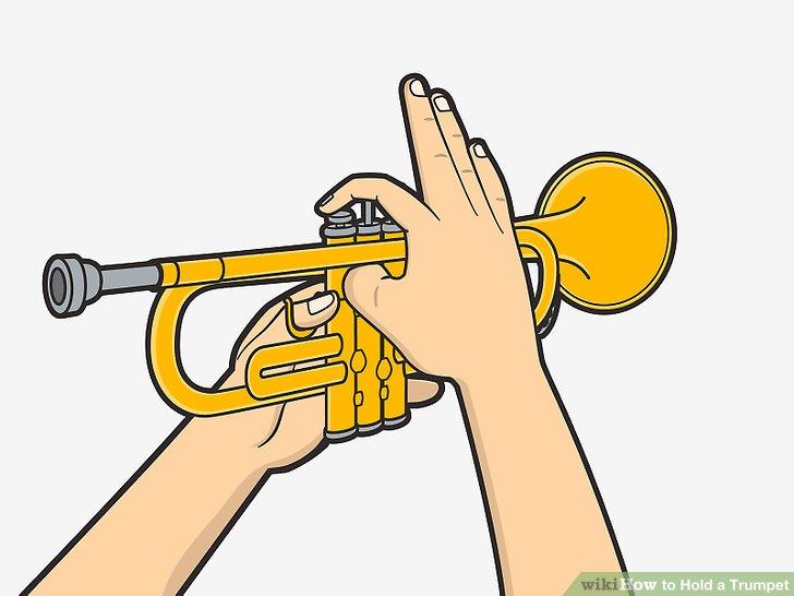 Schlagen Sie die Ventilschlüssel mit den rechten Zeige-, Mittel- und Ringfingern an.