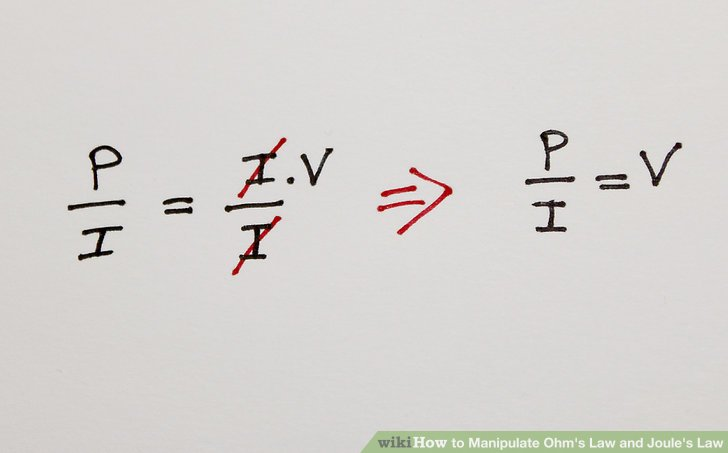 How to Manipulate Ohm's Law and Joule's Law: 10 Steps