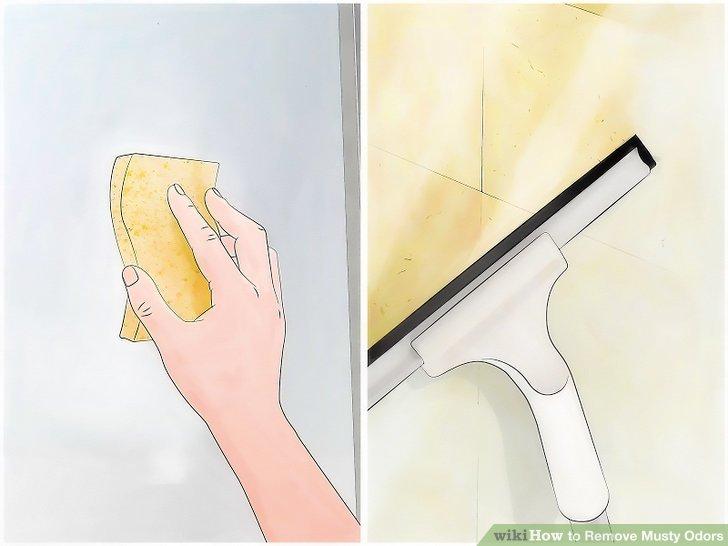 Wischen Sie Fenster und Türen mit einer Mischung aus 1/2 Wasser und 1/2 Essig ab.