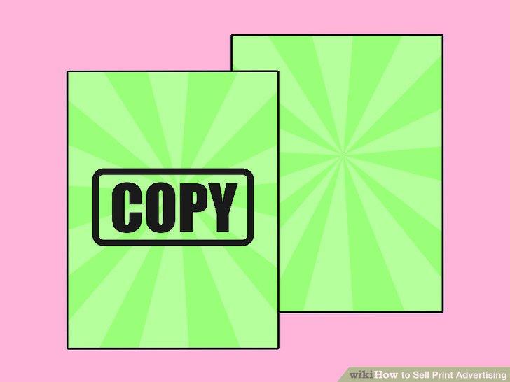 Zeigen Sie eine Kopie der Print-Anzeigen in einer Zeitung oder einer Zeitschrift.