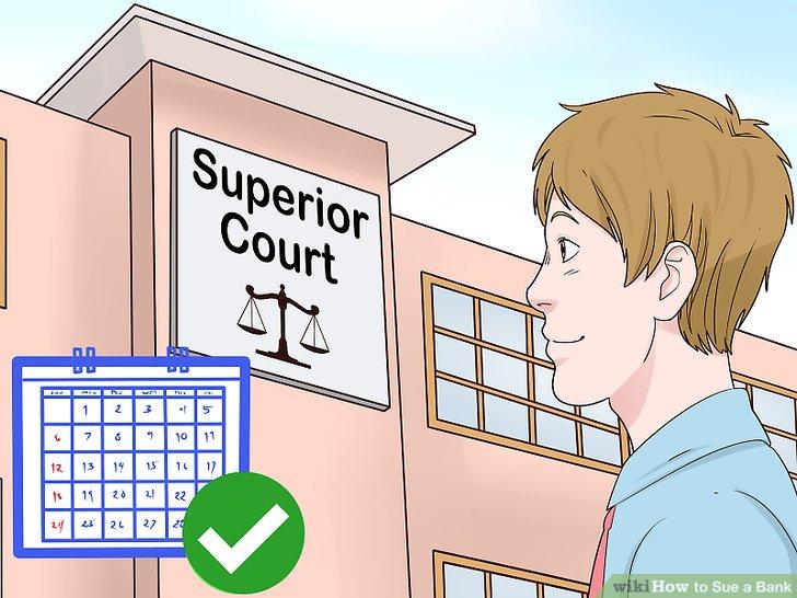 Gehen Sie am Tag Ihrer Anhörung vor Gericht.