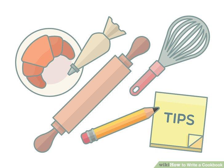 Machen Sie die Rezepte und schreiben Sie Tipps auf.