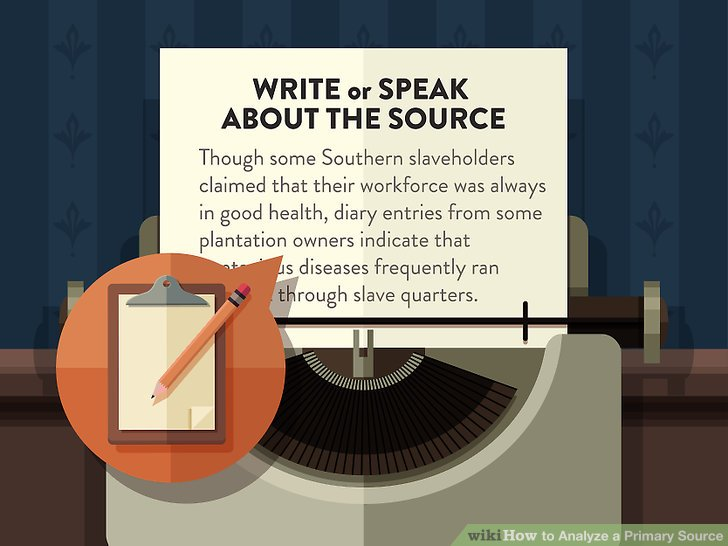 Write or speak about the source.