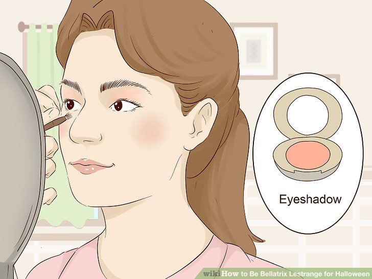 Apply a red eyeshadow to your eyelids.