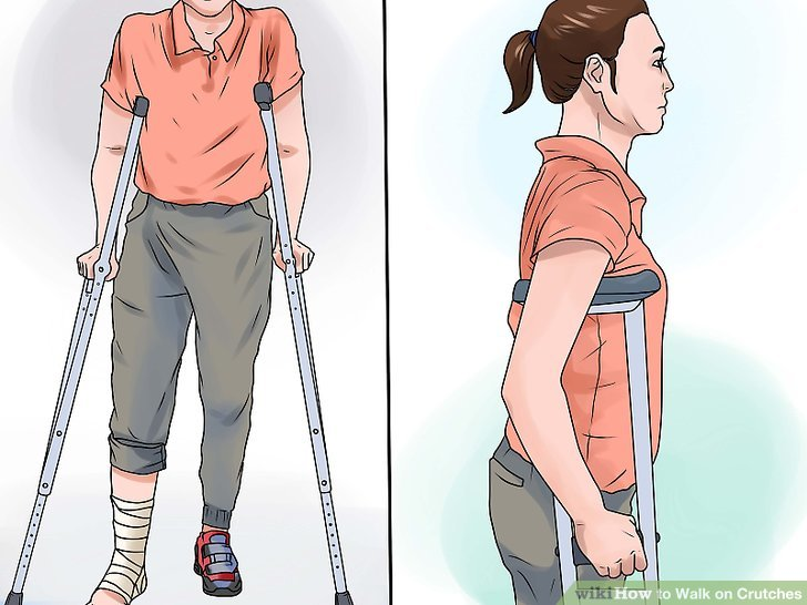 Position crutches correctly for your height.
