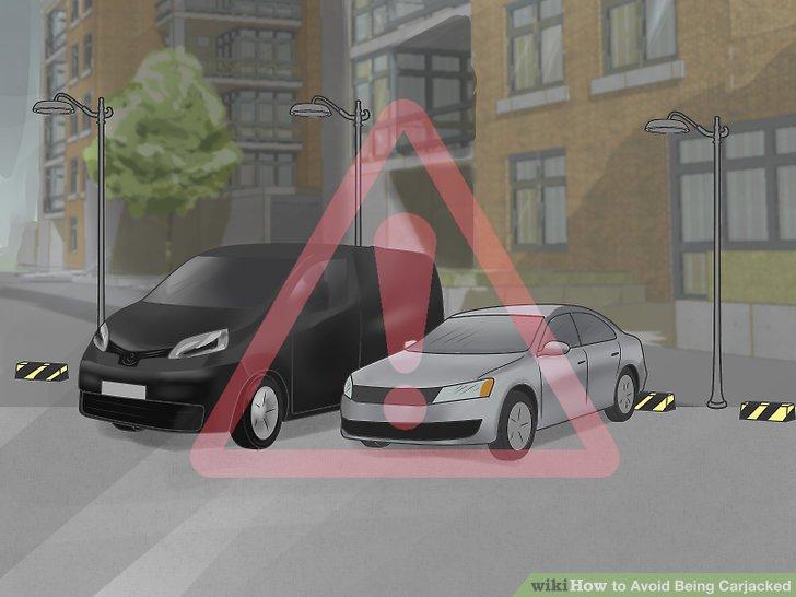 Seien Sie besonders vorsichtig, wenn Sie in gewerblichen Bereichen parken.