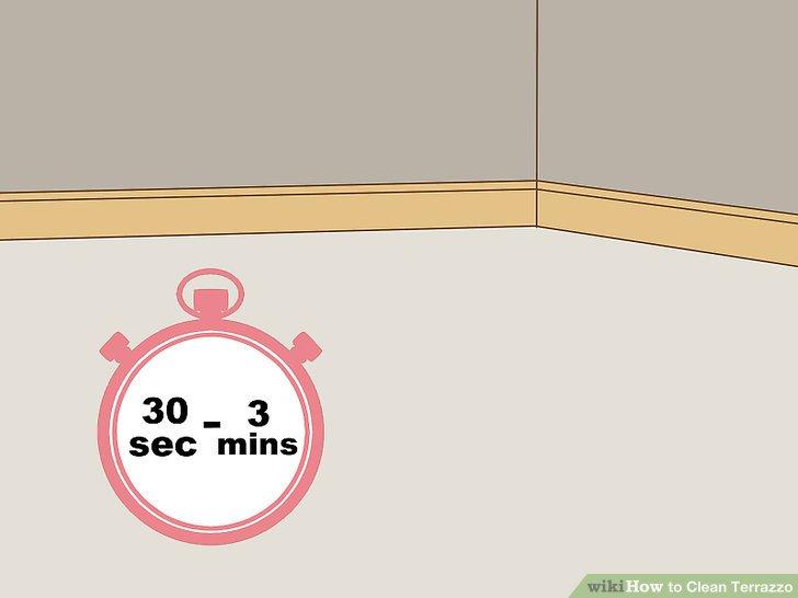 Lassen Sie den Reiniger 30 Sekunden - 3 Minuten einwirken.