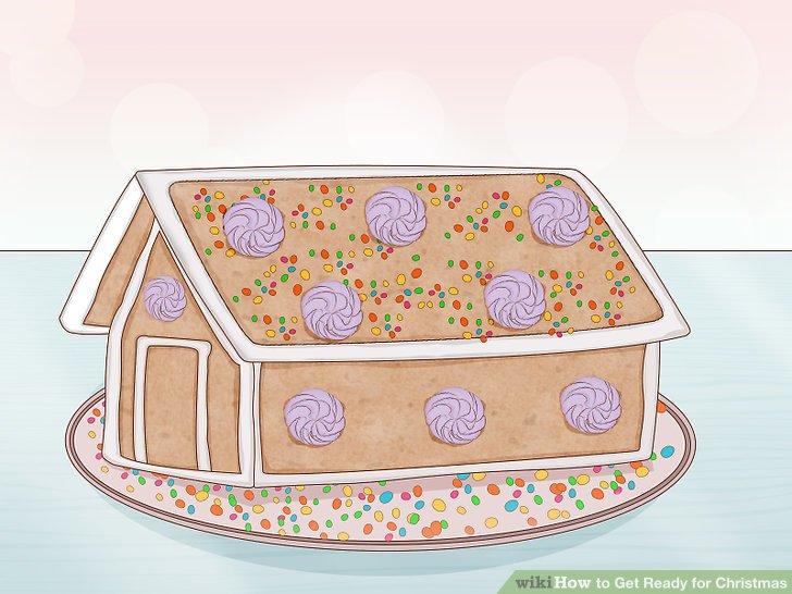 Baue ein Lebkuchenhaus.