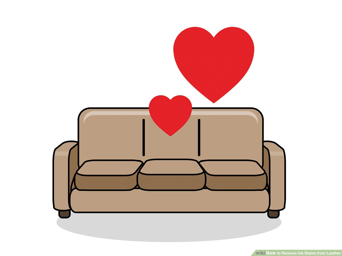 how to get rid of ink marks on leather sofa hypnos electric bed 3 ways remove stains from wikihow