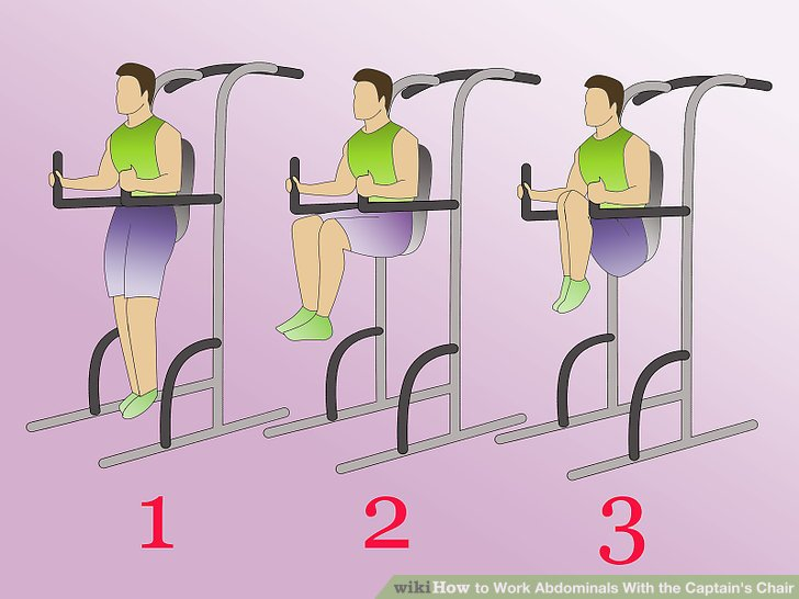 4 Ways to Work Abdominals With the Captains Chair  wikiHow