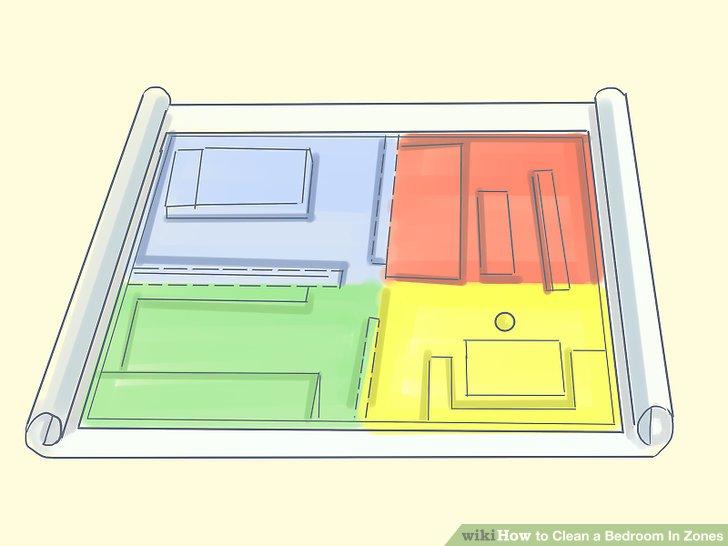 Unterteilen Sie Ihr Schlafzimmer in vier Zonen: