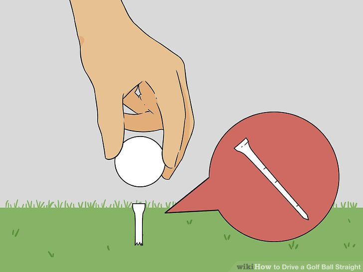 Abschlag den Ball auf halbem Weg.